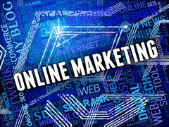 Online Marketing Representing Search Engine And Searching Stock Illustration