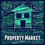 Property Market Representing For Sale And House Stock Illustration