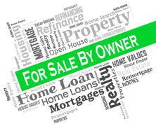 Sale By Owner Showing Direct Residential And Display Stock Illustration