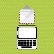 Communication design. Media icon. Flat illiustration, vector graphic - stock illustration