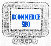 Ecommerce Seo Meaning Search Engines And Optimize Stock Illustration