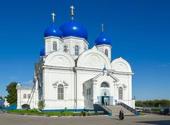 Cathedral of Bogolyubsk Icon of Our Lady of Holy Bogolyubsky monastery, Russi Stock Photos