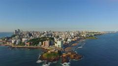 Aerial View of Salvador da Bahia Cityscape, Bahia, Brazil Stock Footage