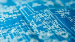 The engineering circuit diagram Stock Footage