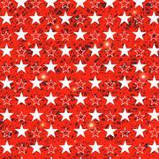 Starry Grunge Red Background Stock Illustration