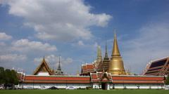 Wat Phra Si Rattana Satsadaram or wat phra kaew ,  Bangkok Thailand. - stock footage