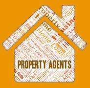 Property Agents Representing Real Estate And Housing - stock illustration