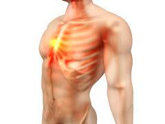 Male Anatomy - Chest Pain - stock illustration