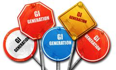 List of generations,The Lost Generation,The Greatest Generation, - stock illustration