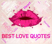 Best Love Quotes Representing Lover Compassionate And Winners Stock Illustration