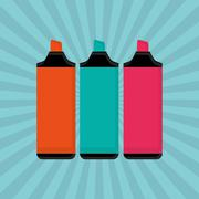 marker design. Colorfull illustration, vector graphic - stock illustration