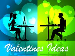 Valentines Ideas Meaning Boyfriend Plan And Places - stock illustration