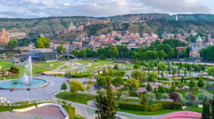 The Rike Park in Tbilisi Stock Footage