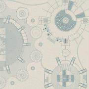 Architectural and engeneering background Stock Illustration