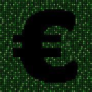 Euro symbol on green hex code illustration Stock Illustration
