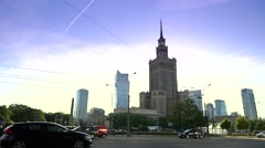 Palace of culture and science Stock Footage