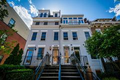 Houses in Adams Morgan, Washington, DC. Stock Photos