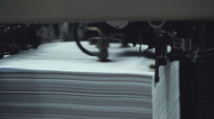 Machine working in printing house Stock Footage