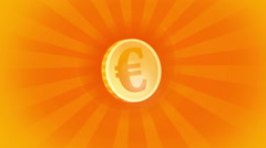 Coin Euro Stock Footage