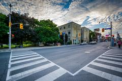 The intersection of Crescent Road and Yonge Street, in Midtown, Toronto, Onta Stock Photos