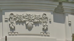 White Fretwork Exterior of Seven-Domed Cathedral Poltava Holy Cross Female Stock Footage