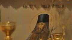 Image of Poltava Orthodox Saint Trinity Day Service in Poltava Ukraine Stock Footage