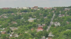 Panorama of Poltava City Ukraine Landscape Residential Houses Small and Stock Footage