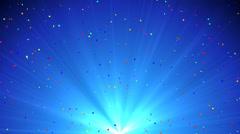 Blue Confettis Shine Stock Footage