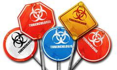 Tuberculosis virus concept background, 3D rendering, rough stree - stock illustration