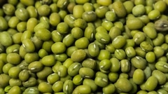 Green mung bean. Top view. Rotating (BMCC 2.5K - 2400x1350) Stock Footage