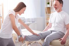Modern rehabilitation physiotherapy Stock Photos