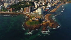 Aerial View of Salvador Cityscape, Bahia, Brazil - Zoom Out Stock Footage