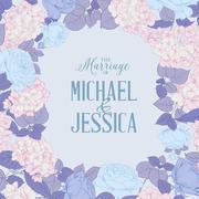 Marriage invitation card Stock Illustration