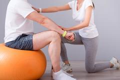 Modern rehabilitation physiotherapy - stock photo