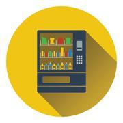Food selling machine icon - stock illustration