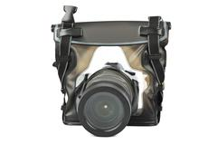 Camera in waterproof case - stock photo