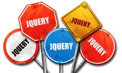 JQuery, 3D rendering, rough street sign collection Stock Illustration