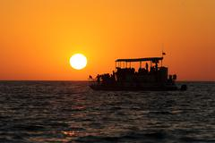 Ferry Boat Sunset - stock photo