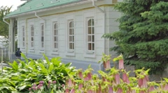 Residential House of the Holy Cross Monastery Poltava City Green Roofed Stock Footage