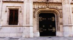 Facade of City hall of Palma de Mallorca, Spain Stock Footage