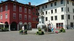 Fountain in Paolo Diacono Square Stock Footage