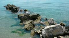 Rocks on the sea Stock Footage