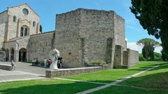Cathedral of Aquileia Stock Footage