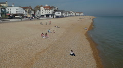Deal beach and Seafront - stock footage