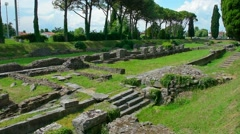Roman Archaeological site - stock footage