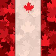 Scatter Canada Day maple leaf card in vector format. - stock illustration