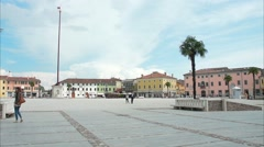 Piazza Grande in Palmanova Stock Footage