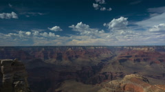 Clouds and shadows moving over the Grand Canyon - time lapse Stock Footage