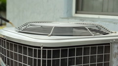 Home Air Conditioner Unit Stock Footage