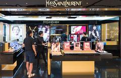 Yves Saint Laurent store in Siam Paragon Mall, Bangkok - stock photo